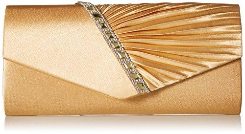 Damara Elegant Strassstein Damen Abendtasche Handtasche,Navyblau Gold
