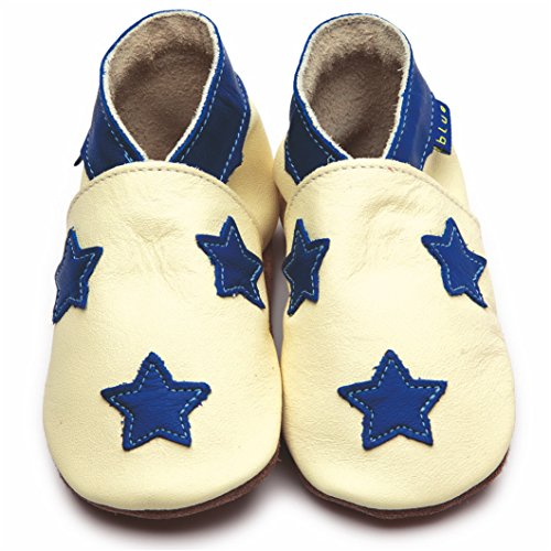 Inch Blue , Chaussures souples pour bébé (fille) Multicolore Buttermilk/Kobalt Child Large