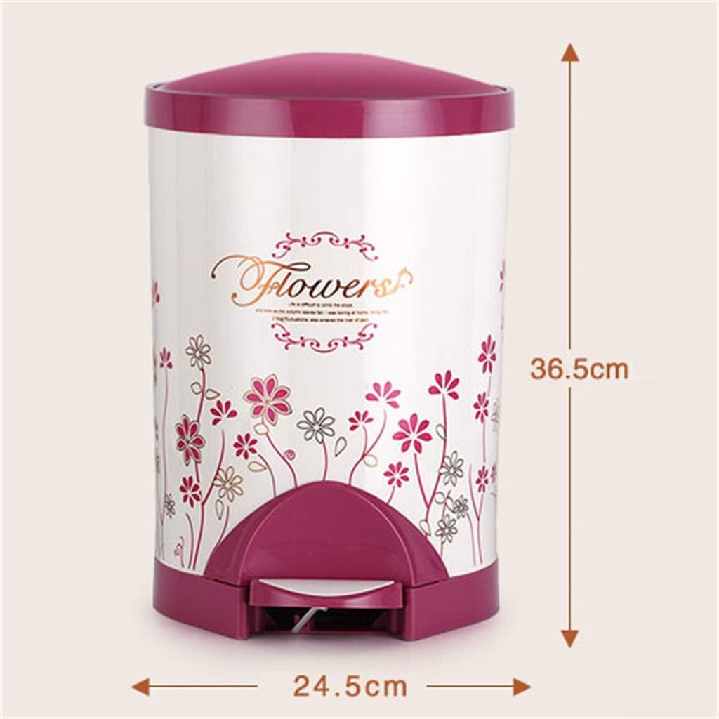 Poubelle Slim Touch Touch Bin Bin/Poubelle/Poubelle/Cuisine/Maison/Rond  Plastique Rose Rose Déchets Et Recyclage