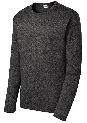 Opna Men's Long Sleeve Moisture Wicking Athletic Shirts GRAHEA-M Grey Heather
