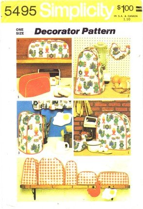 - Simplicity 5495 Sewing Pattern Kitchen Appliance Mixer Blender Toaster Covers Potholder
