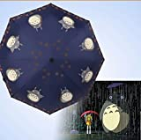 Finex­­® Fully Auto Open/Close Umbrella Totoro - Windproof - UltraSlim, Compact For Easy Carrying (Navy Blue)