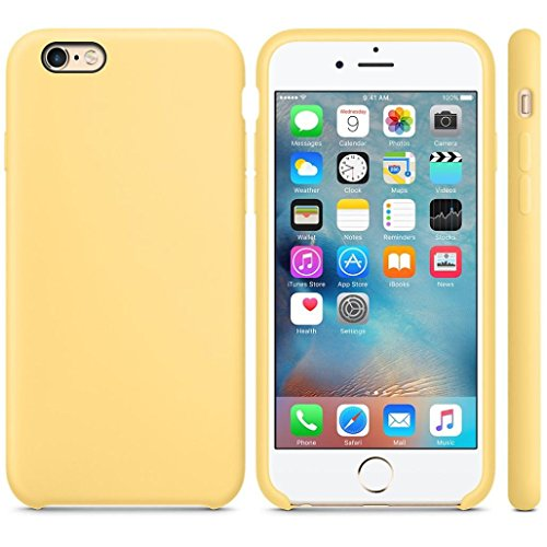 For iPhone 6S Plus 5.5inch Case,GBSELL Luxury Fashion Ultra-thin Silicone Case Skin (Yellow)
