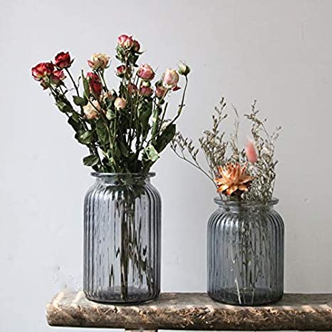 Tavolo Ufficio WDOIT Mini Vaso da Fiori in Vetro per Soggiorno Vetro 11cm*18.5cm centrotavola o Come Regalo Matrimonio As Shown-l Cucina casa