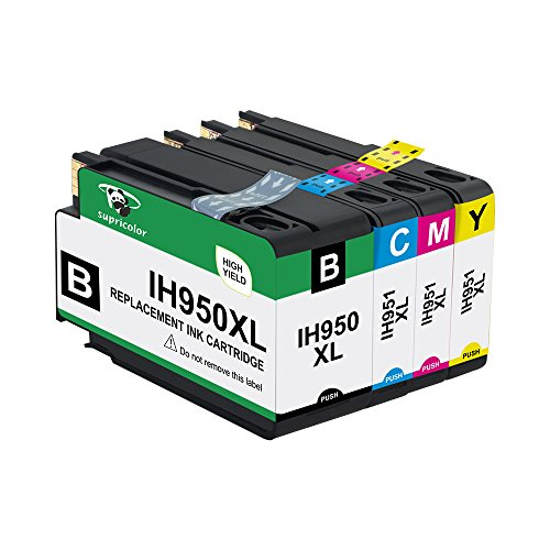 Supricolor Compatible Ink Cartridge Replacement for HP 950XL (Black - Cyan - Magenta - Yellow - 4-Pack)