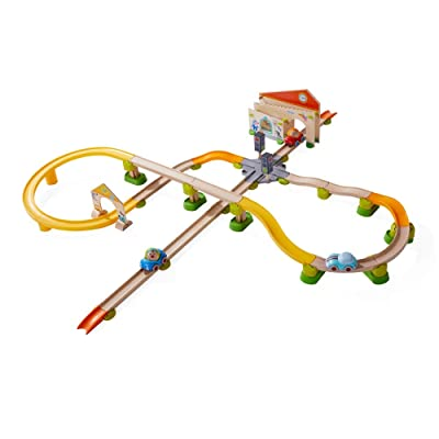 HABA Kullerbu City Stroll Play Track - 58 Piece Starter Set with Wooden & Plastic Track Ages 2+: Toys & Games