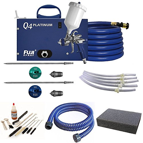 Fuji Spray Q4 Platinum T75G Quiet HVLP Spray System with Accessory Bundle