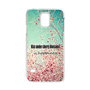 General phonecases, Kiss under Cherry Blossoms is happiness picture white plastic case For Samsung Galaxy S5