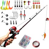 Kids Fishing Pole Beginner's Starter Fishing Kit Christmas Gifts Kids Fishing Rod Full Set Light and Comfortable by SYL