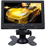 DBPOWER Portable 7″ inch HD HDMI 1080p AV VGA LCD Monitor For Car DSLR & PC & DVD & Car Backup Camera
