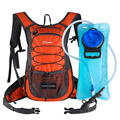 Dtown Hiking Hydration Pack Water Pouch Backpack with 2L Bladder Bag for Half Marathon Trail Athlete Runner Training