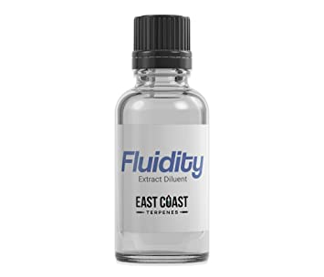 East Coast Terpenes - Fluidity Unflavored Extract Diluent - 100% Pure  Organic Solution (1 ml)