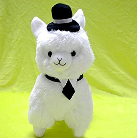 Amazon.com : 35cm Kawaii Japanese Alpaca Plush Wearing Cap 5colors Peluches Alpacasso Stuffed Animals Llama Toys For Children Christmas Gift : Baby