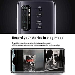 Xiaomi Mi Note 10 Lite Smartphone - 6.47″, 3D Curved AMOLED Display, 6 GB + 64 GB, AI Quad Caméra 5260 mAh, Nero…