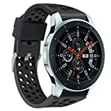 HP95 Replacement Watch Band Fits Samsung Galaxy Watch,22mm Silicone Sports Wrist Strap For Samsung Galaxy watch 46mm,Double Color Breathable Holes Wristband