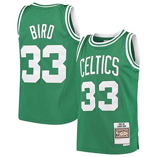 #33 Larry Bird Boston Celtics Youth Hardwood Classics Swingman Throwback Jersey - Kelly Green M