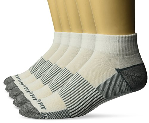 Copper Fit Men's Performance Sport Cushion Quarter Socks (5 pair) Shoe Size -