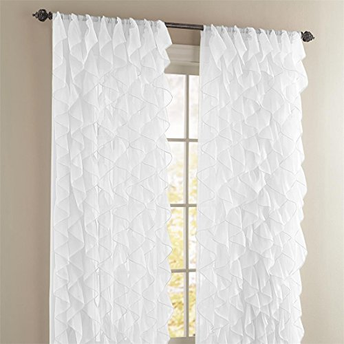 Mem Product S 1pc Cascade White 50x84 Shabby Chic Sheer