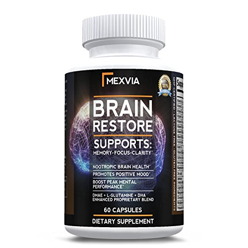 Brain Supplement for-Focus, Energy, Memory and Mental Clarity- Nootropics with DMAE, Bacopa Monnieri, L-Glutamine and Green Tea Extract. For Sale