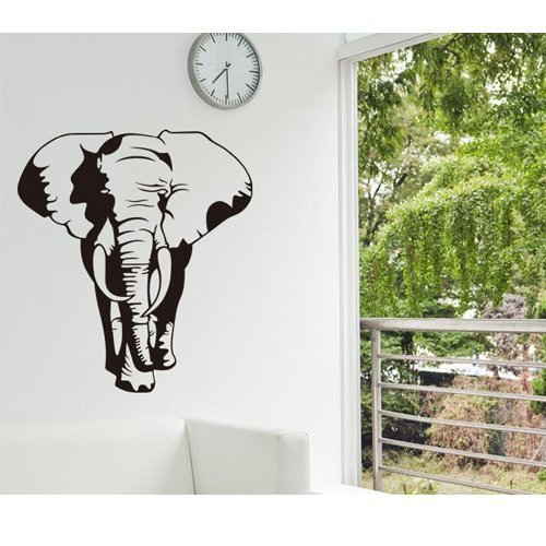 Amaonm® Removable Huge Vinyl Black Africa Elephant Animal W