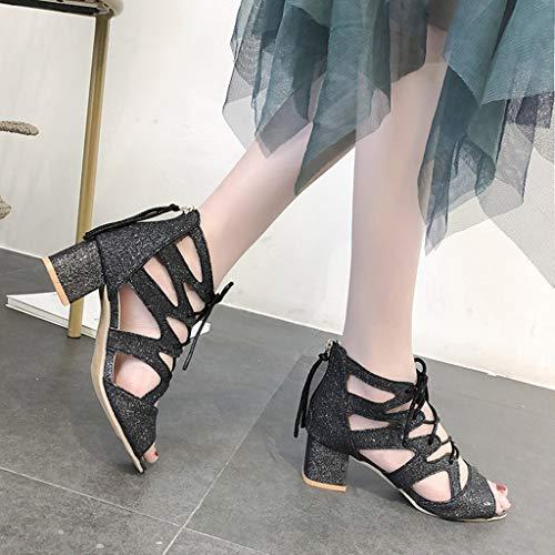 Sandals Women Ihengh Nuovo Ciabatte Nero Estate Alto Sandali Raagzza Peep Tacco Elegante Da Vintage Moda Donna Donne 2019 Party Toe Casual q6rOYqC