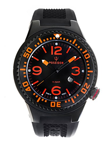 Kienzle Poseidon Men's XL Slim Watch - Orange and Black