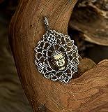 Buddha Sterling Silver Buddha Pendant 'Gautama' MADE TO ORDER, free shipping, buddhism, buddhism pendant, silver jewelry