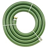 Apache 98128053 3'' x 15' PVC Style G (Green) Suction Hose  with Aluminum Pin Lug Fittings