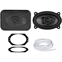 2003-2006 Jeep Wrangler TJ Rockville 4x6 Front Factory Speaker Replacement Kit