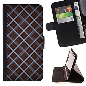 - STRIPES WALLPAPER DESIGN RANDOM PATTERN - - Prima caja de la PU billetera de cuero con ranuras para tarjetas, efectivo desmontable correa para l Funny HouseFOR Apple Iphone 6