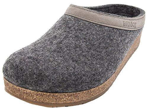 Cork Clogs Leather (Haflinger Women's GZL Clog (40 M EU, Grey))
