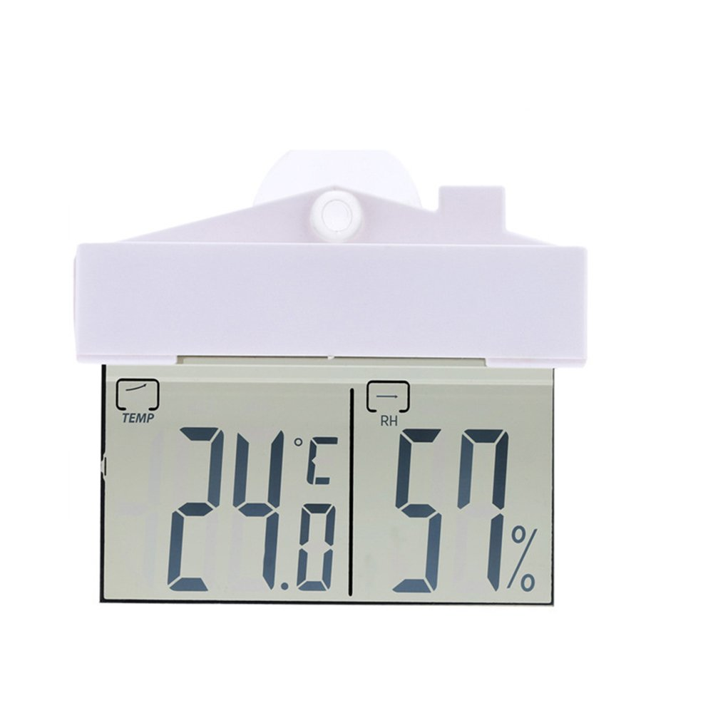LUOER Mini Indoor Outdoor Temperature And Humidity Meter Digital Thermometer 9~50 °C Can Be Attached To Glass And Wall
