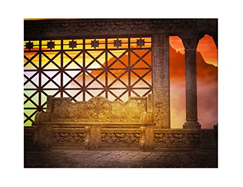 LFEEY 12x8ft Ancient Retro Background for Wedding Pictures Old Drak Gothic Vintage Mediaeval Building Halloween Photography Backdrop Scary Horror Hallowmas Party Photo Studio Props -