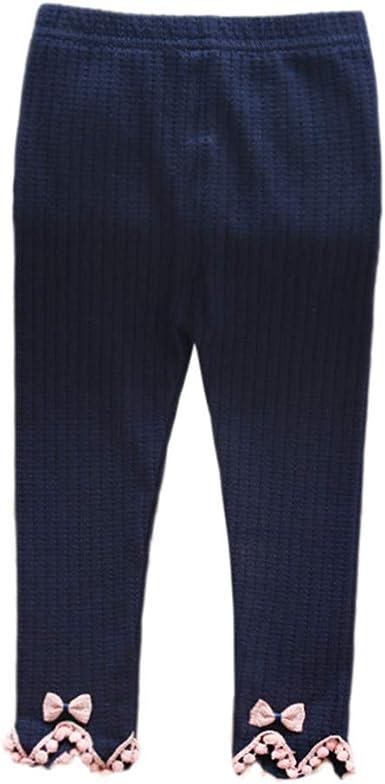 PinkLu Niña Raya Encaje Leggings Pantalones Color sólido Algodón Los Pantalones Ropa: Amazon.es: Ropa y accesorios