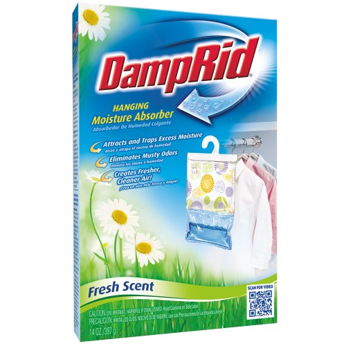 For Sale! DampRid Hanging Moisture Absorber Fresh Scent - 4(14 oz/397g) Packs