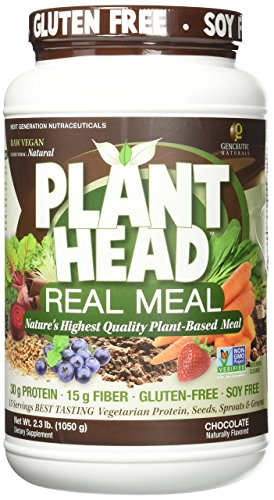 Genceutic Naturals Chocolate Plant Head Real Meal, 2.3 Pound by Genceutic Naturals