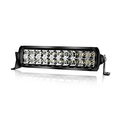 LED Light Bar 10 inch, 4WDKING 2020 Upgraded Version No Screw Design Dual Row Light Bar Mount on Front Bumper and Grille Fit for Ford F150 TOYOTA Tacoma JEEP Wrangler: Automotive
