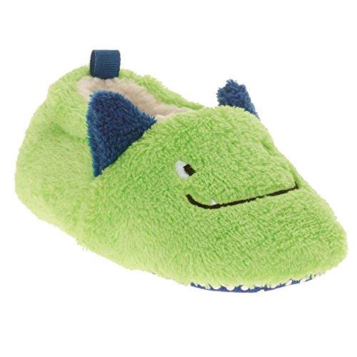 Holiday Catalog Infant Boys & Girls Plush Green Dragon Monster Slippers Baby Prewalk Shoes -