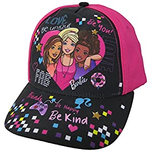51bHC2SaNTL. SS300  - Barbie Girls Trio Heart Baseball Cap [6013] Pink and Black