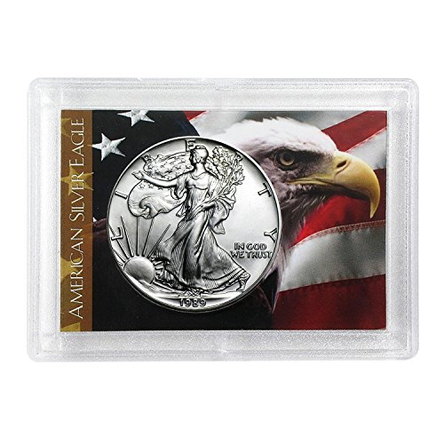 - 1989 Silver Eagle With Eagle Coin Holder $1 Brilliant Uncirculated