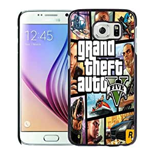 Fashionable Samsung Galaxy S6 Case ,Unique And Popular Designed Case With Grand Theft Auto Black Samsung Galaxy S6 Great Quality Screen Case