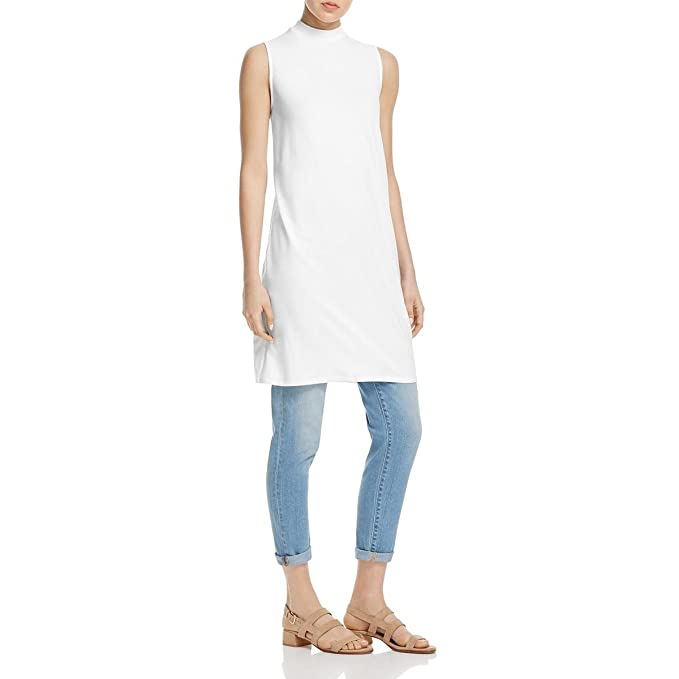 f0b9a46d81173 Amazon.com  Eileen Fisher Womens Petites Tencel Sleeveless Tunic Top ...