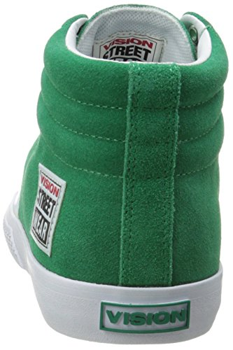 Vision Street Wear Uomo Suede Alta Moda Sneaker Pepe Verde / Bianco