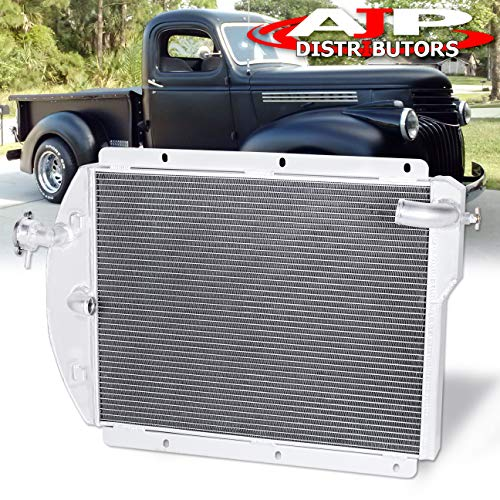 (AJP Distributors 3-Row/Tri-Core Full Aluminum High Performance Racing Engine Oil Cooling Radiator Assembly For 1941 1942 1943 1945 1946 Chevy/GMC Pickup Truck 41 42 43 44 45 46 Upgrade Replacement )