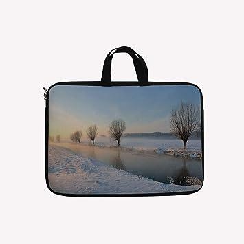 9326718ceb Amazon.com  3D Printed Double Zipper Laptop Bag