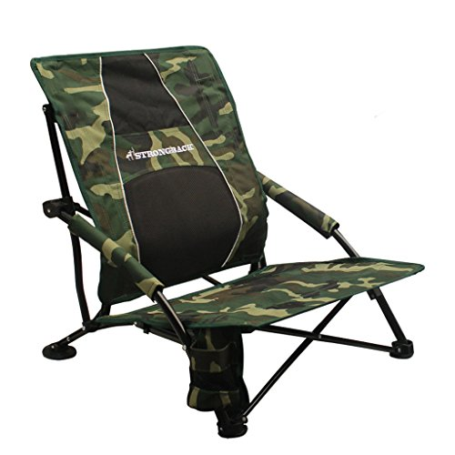 STRONGBACK Low Gravity Beach Chair with Lumbar Support, Camo