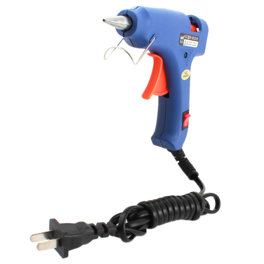 uxcell AC 110-240V US Plug 20W Hot Melt Glue Gun HL-E w On/off Control Switch