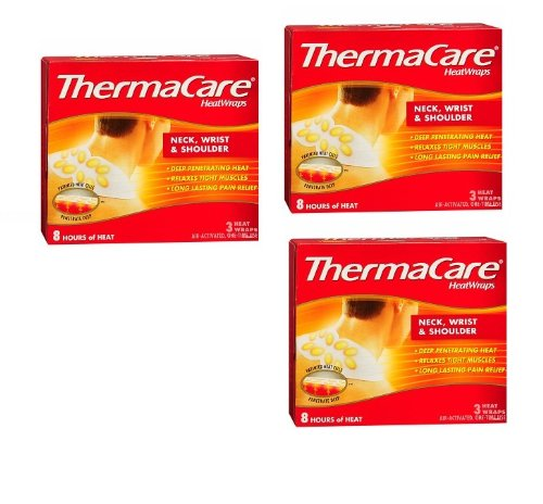 Thermacare Neck Shoulder &Wrist 8 Hour Heatwraps 3-Count (Pack of 3)