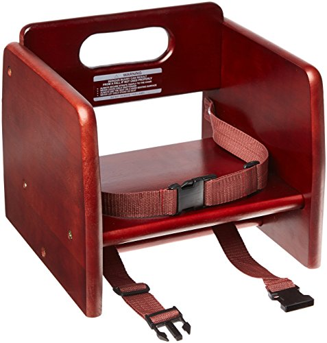 Excellante' Finish Wood Stacking K/D Booster Seat, (Booster Wood Booster Seat)