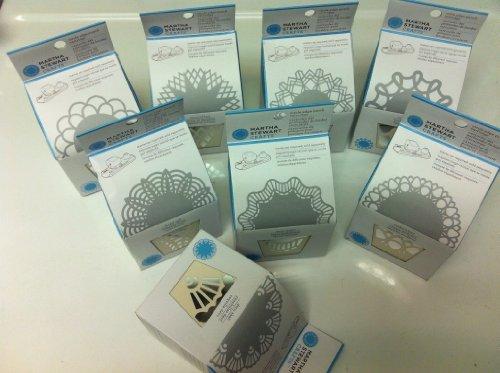 martha stewart circle edge punch bundle with 8 cartridge  diamond crown  diamond lace  modern